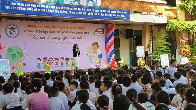 Lễ phát động được diễn ra vào sáng ngày 22/5 tại Trường tiểu học Hiệp Tân.