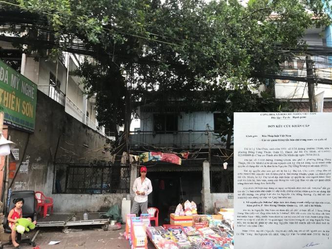 Khu đất có nguồn gốc của gia đình ông Châu được chính quyền địa phương cấp sổ cho bà Sương.