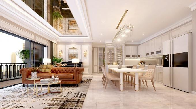 Theo khảo sát, những căn hộ cao cấp có view đẹp, ở vị trí trung tâm quận 1, quận 2, giá thuê có thể đạt mức 2.000  –  2.500USD/tháng.