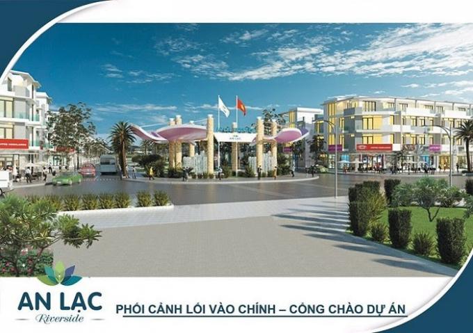 Phối cảnh vào cổng chính của dự án khu dân cư An Lạc Riverside.