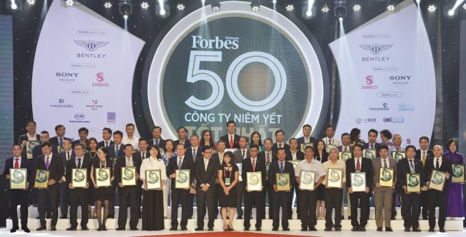 Các doanh nghiệp được vinh danh trong Top 50 công ty niêm yết tốt nhất Việt Nam 2019.