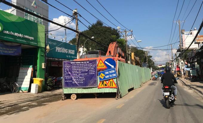 Lô cốt trên đường Nguyễn Duy Trinh, phường Bình Trưng Đông, quận 2.