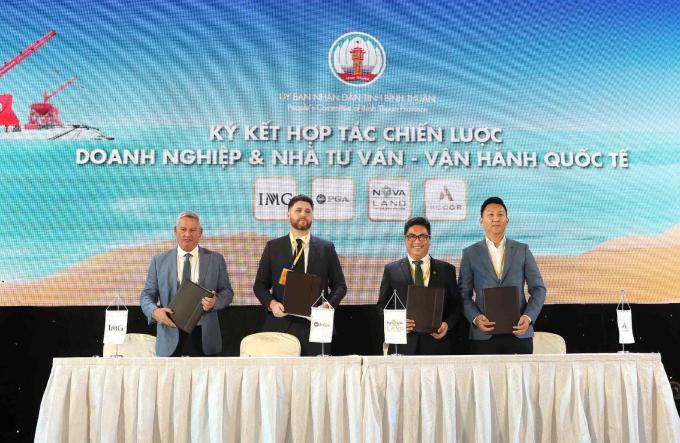 Lễ ký kết hợp tác chiến lược giữa Tập đoàn Novaland cùng đối tác quốc tế.