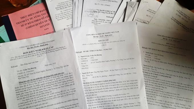 Đã nhiều lần bà Hương gửi đơn kiến nghị, tố cáo đến Trung ương và địa phương về vụ việc.