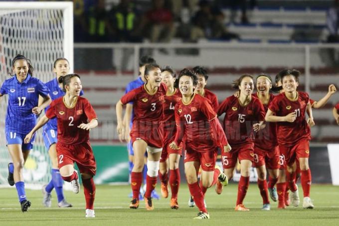 Tuyển bóng đá nữ giành HCV thứ 66 cho đoàn thể thao Việt Nam tại SEA Games 30.