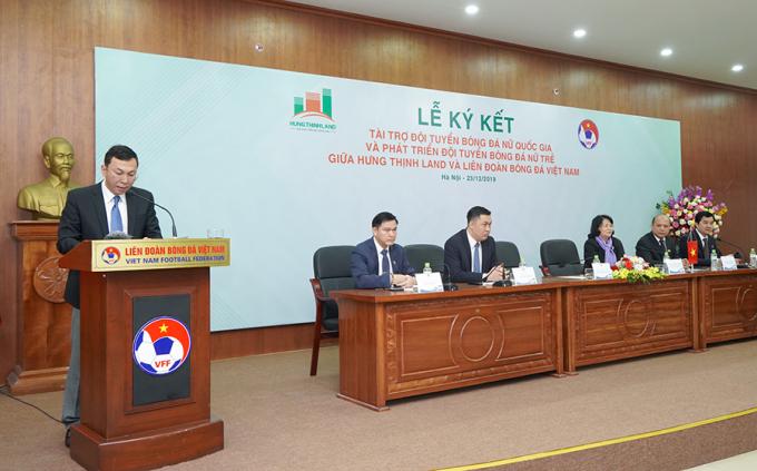 Ông Trần Quốc Tuấn phát biểu tại lễ ký kết.