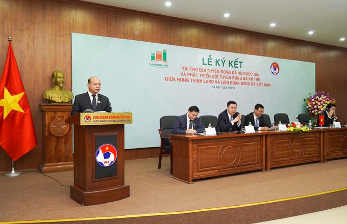 Ông Lê Trọng Khương phát biểu tại lễ ký kết.
