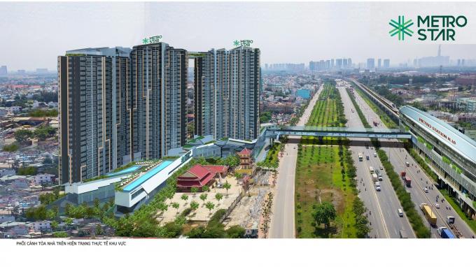 Dự án Metro Star có cầu bộ hành kết nối trực tiếp với Ga Metro số 10.