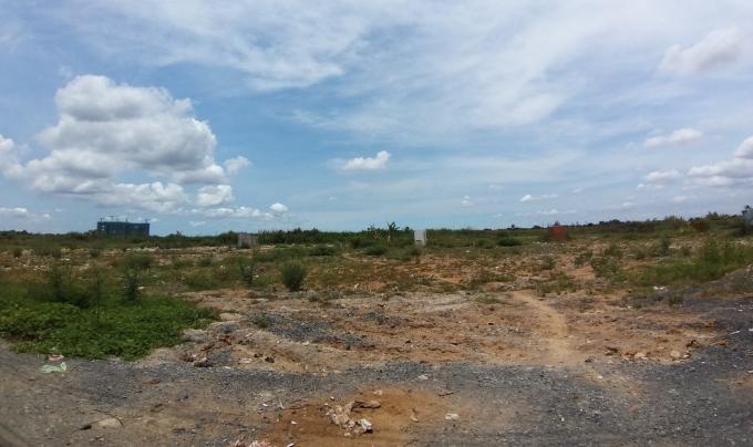 Một phần khu đất tại Dự án KCN Phong Phú - nơi đang xảy ra nhiều lùm xùm trong thời gian qua.