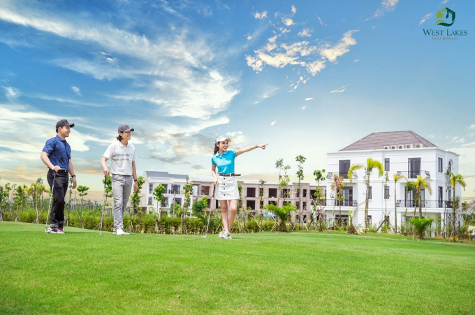 Sở hữu biệt thự West Lakes Golf & Villas, khách hàng được hỗ trợ vay đến 50%.