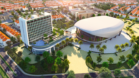 Khách sạn mang thương hiệu Novotel sẽ được xây dựng tại phân khu River Park 2 (The Valencia), thuộc Đô thị sinh thái thông minh Aqua City.