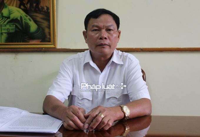 Chủ tịch UBND xã Kỳ Tân trong buổi làm việc với phóng viên.