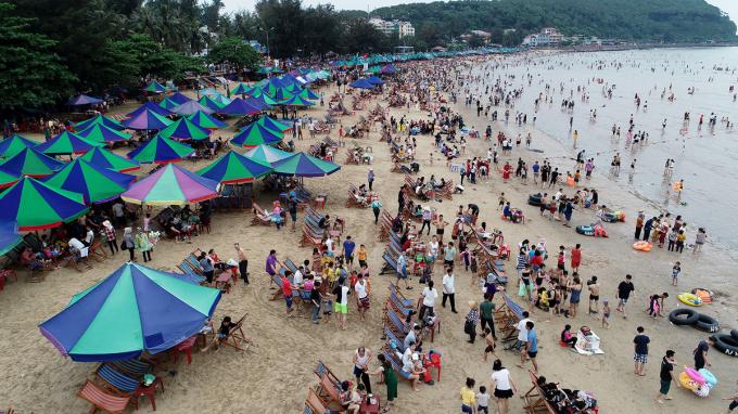 """Khu du lịch Đồ Sơn là 1 trong những điểm """"hút"""" khách du lịch của Hải Phòng."""