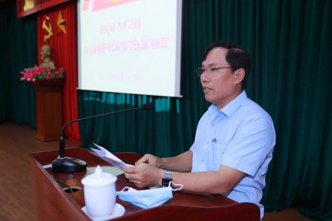 Bí thư Quận ủy Hồng Bàng Lê Ngọc Trữ phát biểu khai mạc.