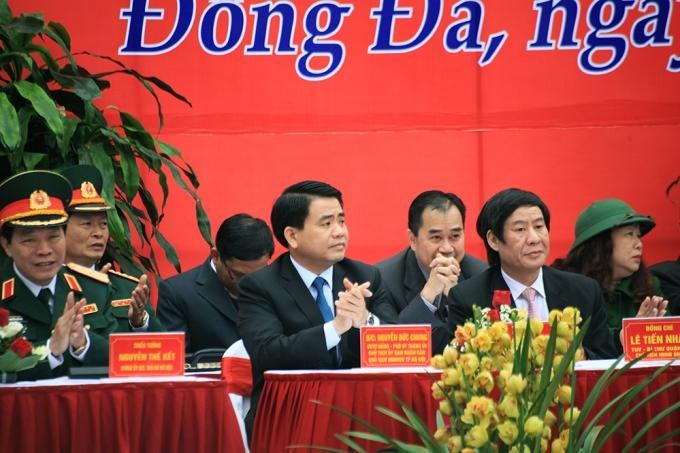 Đồng chí Nguyễn Đức Chung-Ủy viên Trung ương Đảng, Chủ tịch UBND TP Hà Nội.