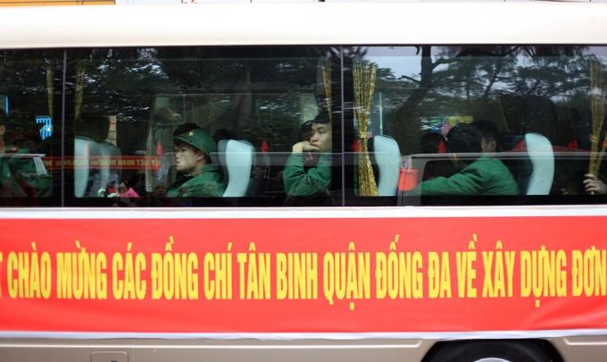 Đống Đa (Hà Nội): Các tân binh sẵn sàng lên đường nhập ngũ