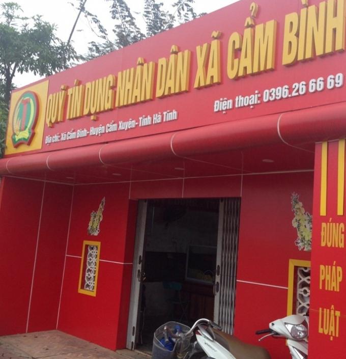 Trụ sở Quỹ tín dụng nhân dân xã Cẩm Bình.