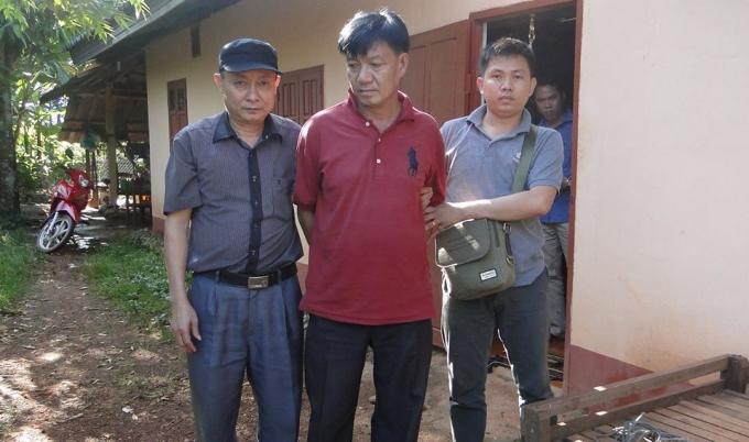 Đối tượng Thạo Bua Khăm Phi La Vông bị lực lượng biên phòng Hà Tĩnh bắt giữ.