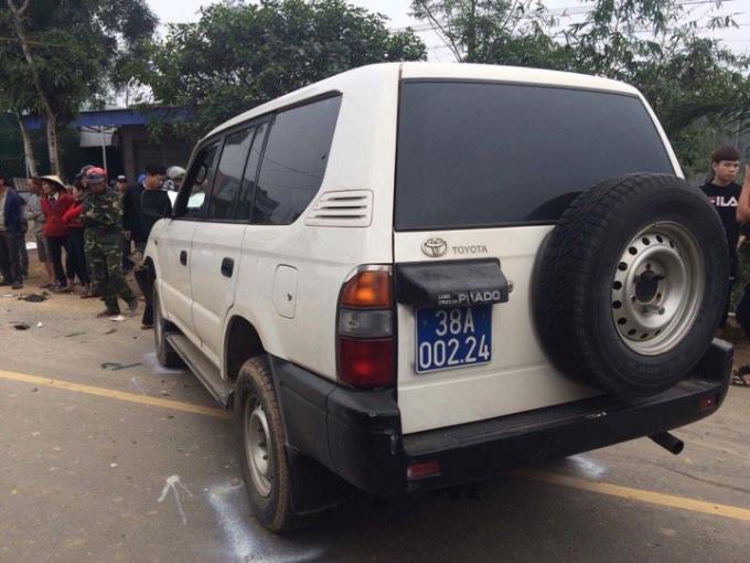 Trên xe biển xanh lúc xảy ra tai nạn chở 3 người, trong đó có Phó CT UBND huyện Can Lộc.