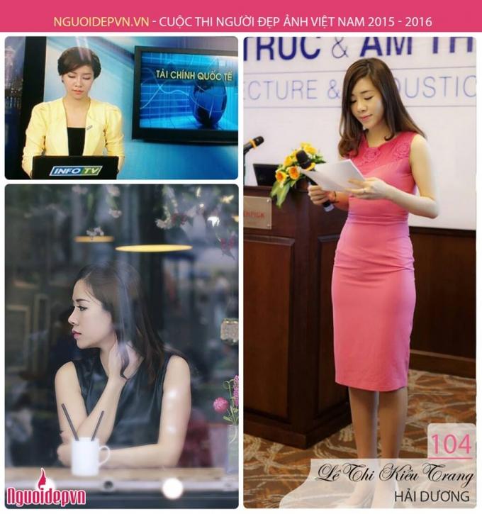 Thí sinh Lê Thị Kiều Trang, SBD 104, Hải Dương