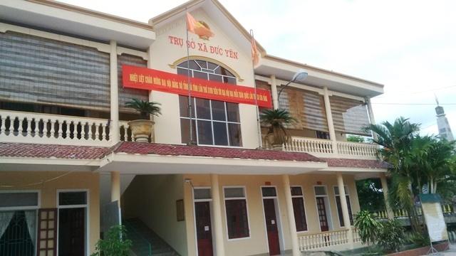 Trụ sở UBND xã Đức Yên.