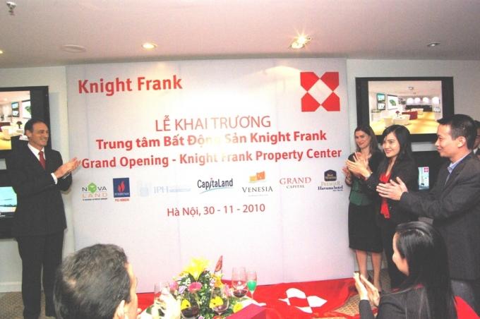 Năm 2010, Knight Frank chính thức khai trương Trung tâm bất động sản tại Việt Nam. Trụ sở tại số 40 Phan Bội Châu, Hoàn Kiếm, Hà Nội. (Ảnh NDH)