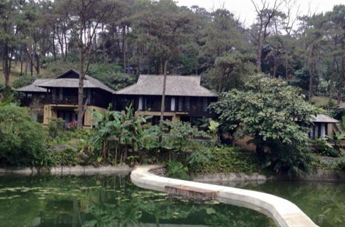 Một góc khu Resort không phép tại VQG Ba Vì.