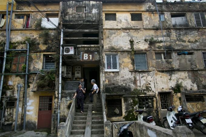 Một khu tập thể cũ tại Hà Nội. Ảnh internet