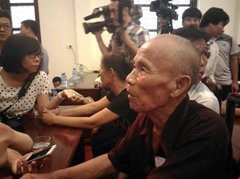 Ông Trần Văn Thêm (80 tuổi, ngụ tại Bắc Ninh), người đã mang thân phận tử tù hơn suốt 40 năm qua. Ảnh Plo.vn