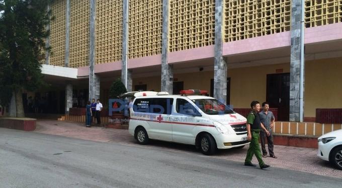 Trụ sở Tỉnh ủy tỉnh Yên Bái nơi xảy ra vụ việc. Ảnh T.H