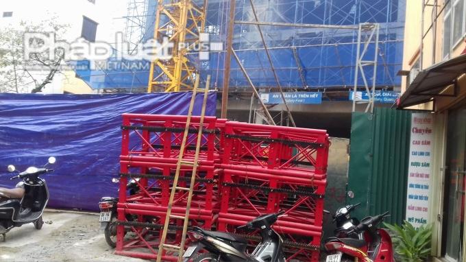 Hiện trường công trình xây dựng.