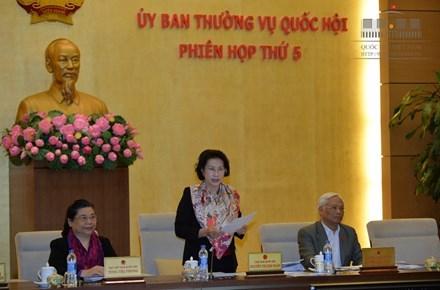Chủ tịch Quốc hội Nguyễn Thị Kim Ngân phát biểu tại phiên họp. Ảnh: Quốc hội.vn