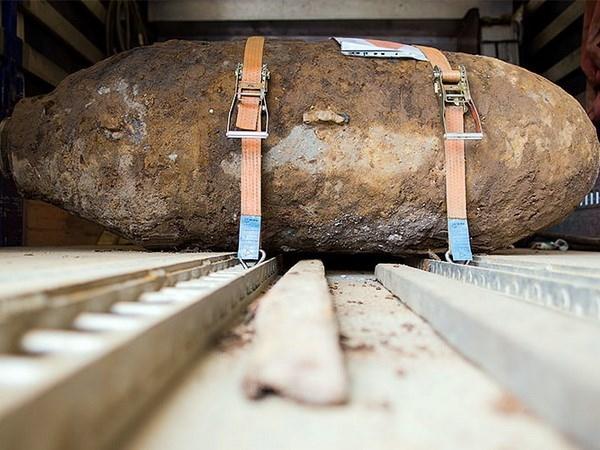 Một quả bom từ Thế chiến thứ hai ở Cologne được vô hiệu hóa vào ngày 27/5/2015. (Nguồn: AFP)