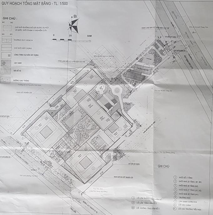 Lối đi của Dự án thể hiện trong Bản quy hoạch là phía trục đường Nguyễn Chánh