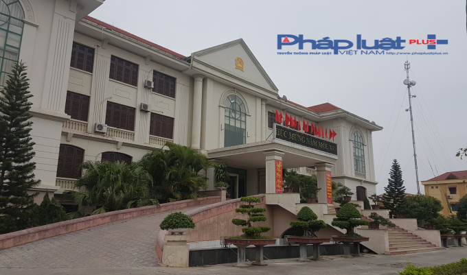 Trụ sở UBND huyện Yên Phong, Bắc Ninh. Ảnh Vũ Quang.