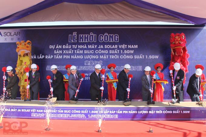 Nhà máy JA Solar VN được khởi công từ tháng 11.2016