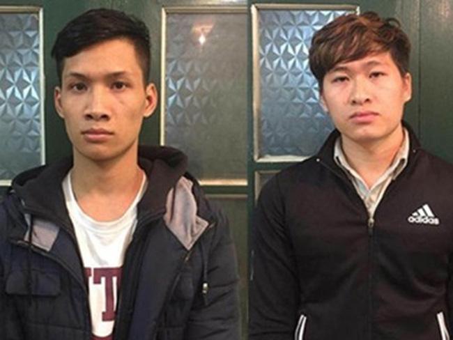 Hai đối tượng Nguyễn Tiến Sáng và Trần Đức Việt.