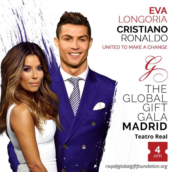 Cristiano Ronaldo sẽ nhận giải thưởng Bác Ái do Global Gift trao tặng