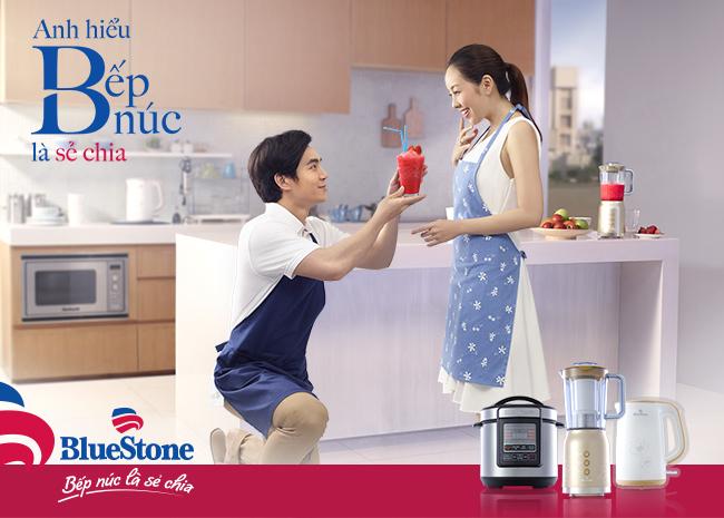 Hãy cùng chiến dịchBẾP NÚC LÀ SẺ CHIAhâm nóng lại yêu thương vợ chồng từ gian bếp gia đình. BlueStone tin rằng cuộc sống sẽ tốt đẹp hơn nếu việc nội trợ bếp núc được sẻ chia bởi cả hai vợ chồng hơn là bị ấn định theo giới tính.