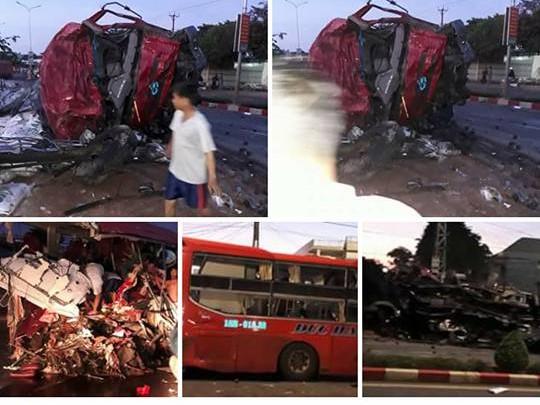Vụ tai nạn giao thông đã cướp đi sinh mạng của 10 người.