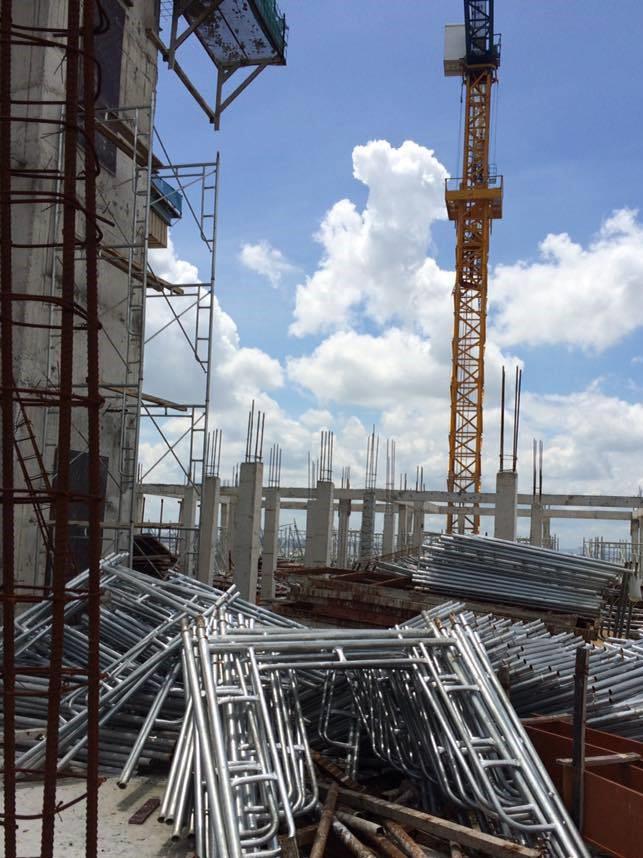 Hiện trạng sai phạm xây sai phép tại dự án Tân Bình Apartment.