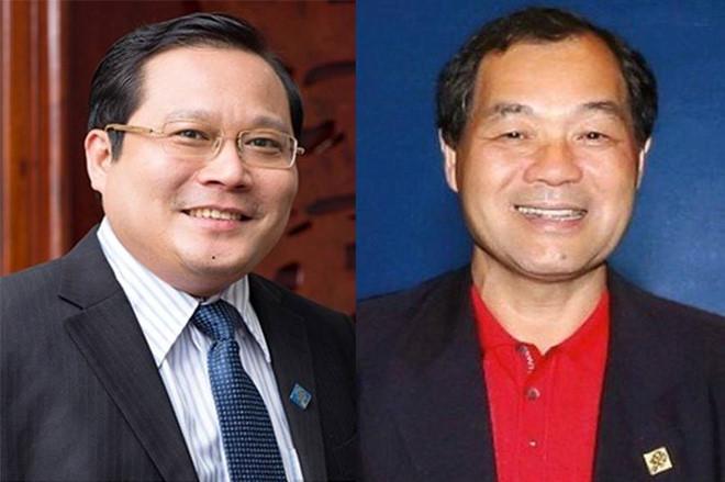 Phan Huy Khang (trái) và Trầm Bê. Ảnh:Công an cung cấp.