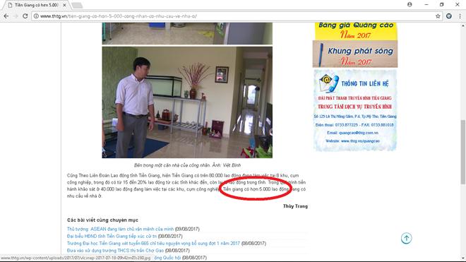 Hình chụp lại từ trang Web