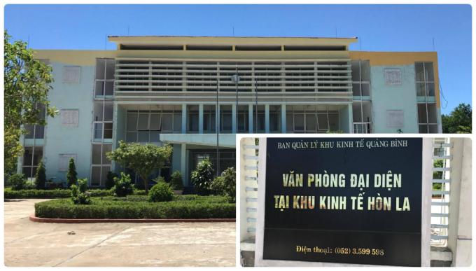 Trụ sở Ban quản lý kinh tế Quảng Bình.