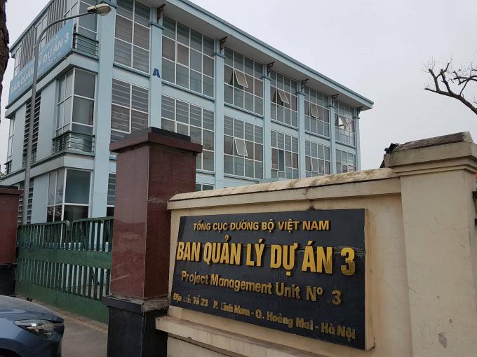 Trụ sở BQL dự án 3 tại Hà Nội.