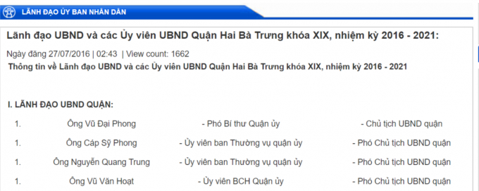 Nhiều lãnh đạo phường tại quận Hoàn Kiếm bị kỷ luật phải