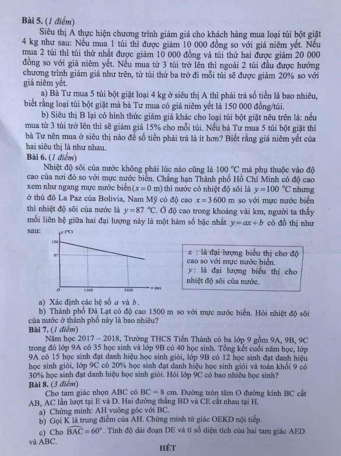 Đề thi môn toán (2)