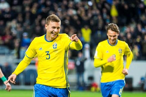 Sự chắc chắn của trung vệ MU, Victor Lindelof và hàng phòng ngự là điểm tựa của Thụy Điển. (Ảnh: Zimbio)