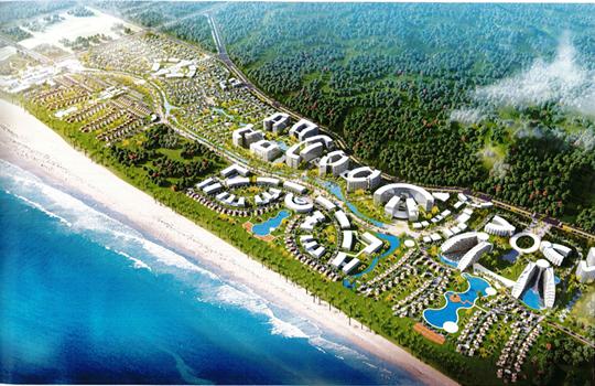 Toàn cảnh về khudu lịch nghỉ dưỡng tại bãi biển Lăng Cô, Thừa Thiên Huế