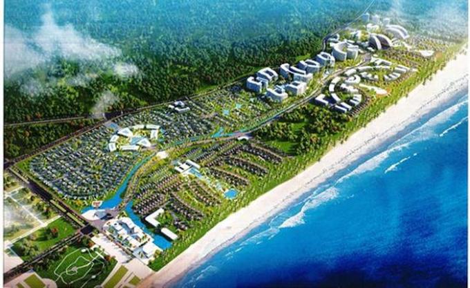 Khudu lịch nghỉ dưỡng tại bãi biển Lăng Cô, Thừa Thiên Huế khi đi vào hoạt động sẽ làm đổi thay bộ mặt du lịch nơi đây.